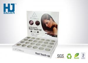 China Hair Root Touch - Up Cardboard Counter Display , Makeup Display Shelves SGS Approval on sale