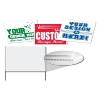 China Reusable Printing Yard Signs For Advertise , PP H Stake Signs on sale