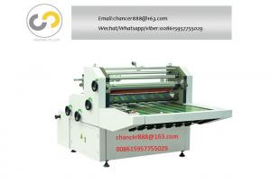 China 950mm Width Manual Water-based glue film laminating machine with counting device on sale