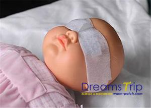 China Sterilized White Neonatal Phototherapy Eye Mask For Baby Vision Protection on sale