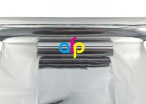 China Printable Golden / Silver Metallized Bopp Film , Metallized Plastic Film Roll on sale