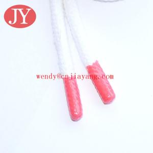 China Custom Round Cotton cord / Cotton drawstring with rubber tip / swim short cord on sale