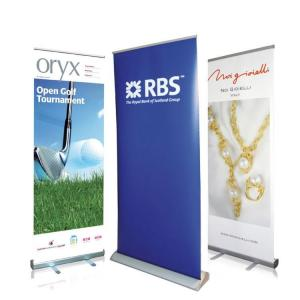 China Waterproof Roll Up Banner Display Dye Sublimation Full Color Printing Reusable on sale