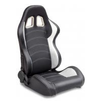 Sparco Style Leather Racing Sport Auto Car Seats / Black And White Racing Seats