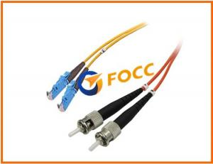 China Home Fiber Optic Network Cable 2.0mm Multi - mode Duplex E2000-ST Patch Cord PVC on sale