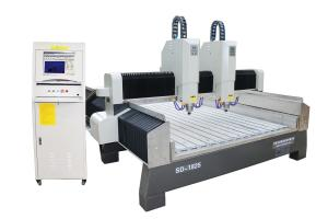 China Furniture CNC Engraving Machine Double Head Coffin  With Servo Motor on sale