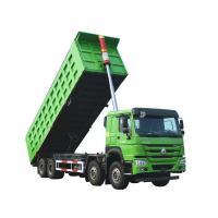 Light Weight HOWO Tipper Truck , Blue Giant Dump Truck Lower Fuel Consumption