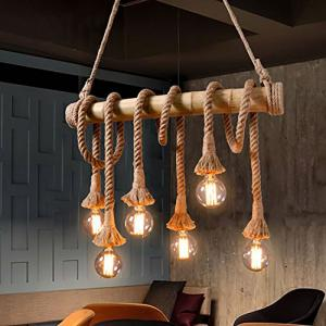 China Antique Vintage Pendant Lamps Hemp Rope Light Fixture Ac85-265 V  50/60 hz on sale
