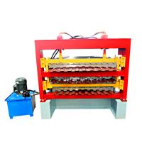 China Metal Roofing Sheet Corrugating Iron Sheet Roll Forming Making Machine Cold Galvanizing Line on sale