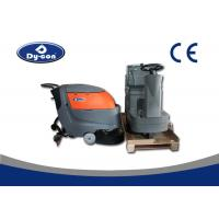 China Electric Battery Powered Hard Floor Brush Scrubber Machine 100 Litre Recovery Tank on sale