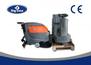 China Electric Battery Powered Hard Floor Brush Scrubber Machine 100 Litre Recovery on sale