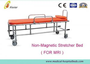 Non Magnetic Ambulance Stretcher Trolley Aluminum Alloy With