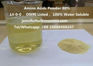 China Compound Amino Acids Powder 80% 70% 60% 52% 50% 45% 40% Organic Fertilizer, 14-0-0, OMRI Listed on sale