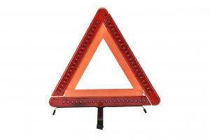 China Triangle 21 LEDs Hazard Warning Triangle 42 Cm Side Length Engineering Truck on sale