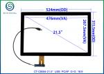 "21.5"" USB Interface Projected Capacitive Touch Screen For Commercial Kiosks, 16:9 COB Type ILITEK 2302 Controller"