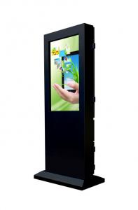 China Compatible Outdoor Touch Screen Kiosk Totem Anti - Glare Glass Automatic Brightness Control on sale