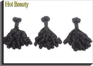 China Curled 10'' - 20'' Grade 7A Rose Virgin Hair / Human Hair Weave Bundles on sale