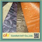 Waterproolf 袋の家具製造販売業/カー・シートのための金属ポリ塩化ビニールのレザーの生地材料