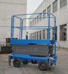500Kg Loading Capacity Hydraulic Mobile Scissor Lift with 6 Meters Platform Height