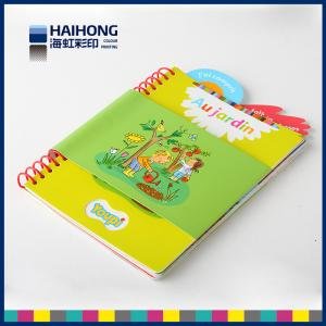 China Eco - friendly coil bound book printing / spiral notebook printing spot UV , Embossed & depossed on sale