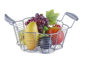 China Food Grade Metal Mesh Wire Fruit Basket Stainless Steel Material For Home Storage on sale