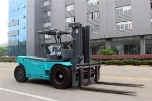 China Battery Operated Electric Forklift Truck , Industrial 12 Ton / 10 Ton Electric Forklift on sale
