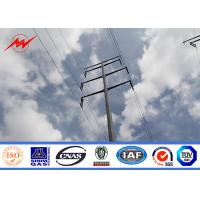 Tapered Galvanized metal utility poles For Electrical Line Project