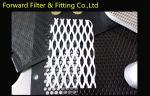 a malha expandida de aço inoxidável do metal 304L, PVC revestiu a rede de arame do diamante
