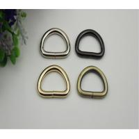 China Supply all kinds of handbag metal open d ring,light gold wire iron metal d ring 25mm on sale
