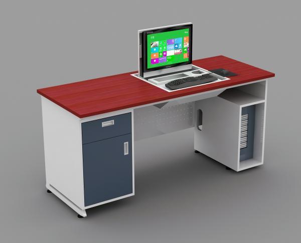 Dustproof High Density Mdf Teacher Computer Lab Tables For