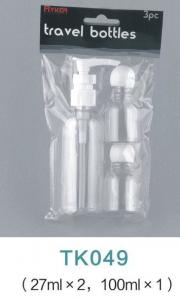 China Airport Bottle Dispenser cosmetic travel kit hotel travel set with PVC bag on sale