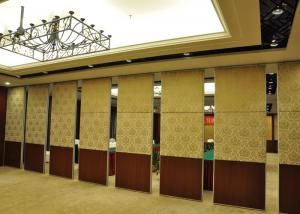 China Staking Ceramic Ring Wooden Room Partitions Folding Door For Exhibition Halls on sale