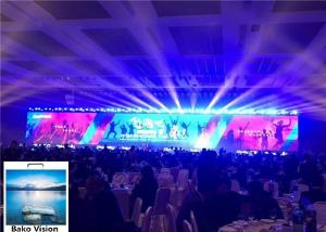 China 6000 Nits Brightness Led Screen Stage Backdrop , P4.81 Video Wall Led Display IP65 on sale