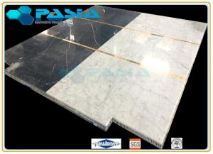 China Water Jet Cut / Jointed Pattern Marble Honeycomb Stone Panels Mosaic Tile on sale