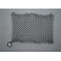 Kitchen Cleaning Chainmail Scrubber For Cast Iron Cookware , Stainless Steel 316