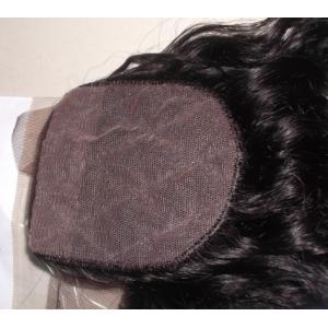 China Grade7A Lace Closure Virgin Peruvian Natural Looking. Silk Base Lace closure .Middle Part on sale