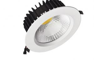China Die-Cast Aluminum 20W COB LED Downlight , Round LED Recessed Down Lights on sale
