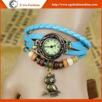 Owl Bird Pendant Watch Vintage Bracelet Watch Genuine Leather Watch Strap Quartz Watches