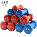 Hand Weights Vinyl Coated Dumbbells , Dumbbells For Women Pantone Number Color