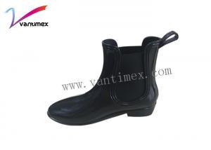 China le travail élevé de PVC d'élastique de 100% rejette chaussures noires/faites sur commande de confort on sale