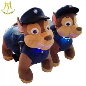 China Hansel shopping mall coin operated electric kids battery power paw patrol ride on animals on sale