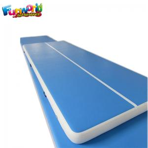 China Blue Air Board For Gymnastics / Air Floor Tumbling Mat Acrobatics Classes on sale