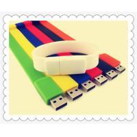 Silicone USB Flash Drive Bracelet , DIY Print USB Bracelet