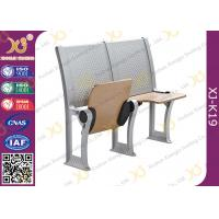 Plywood School / College Classroom Furniture Connected Table And Chair