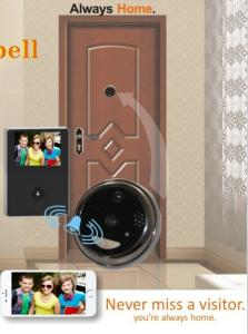 China Aluminium Alloy WiFi Video Doorbell With Peephole , 120 Degree Wide Angle on sale