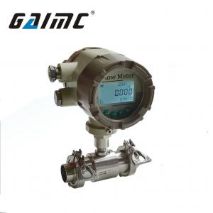 China GTF400 Tri-Clamp Sanitary Turbine flow meter for food industry on sale
