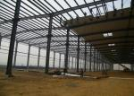 Multi Span Large Workshop Buildings , High Strength Steel Workshop Building