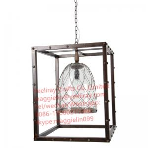 China YL-L1039  American Creative antique shabby chic Industrial  Metal Globe Frame Chandelier on sale