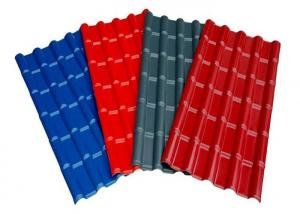China Red Grey Blue Pre Painted Corrugated Sheet DX51D SGCC Slip Resistance For Roofing on sale