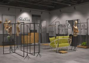 China Nice Looking Clothing Display Rack / Store Fixtures And Displays Custom Color on sale